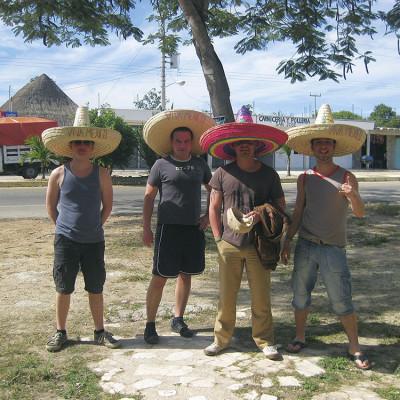 Stefan, Christian und Martin bei einem Trip durch Mexico