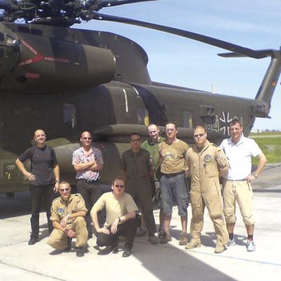 mit den ISAF-Piloten in Usbekistan