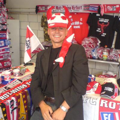 Christian im Fanshop des FC RWE